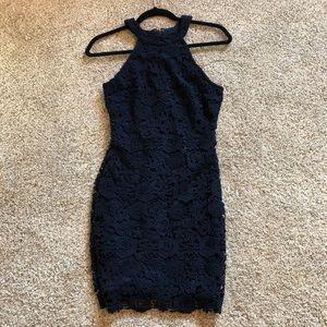 Lace Lulus Navy Dress